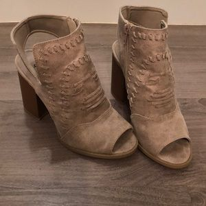 Qupid sandals/booties/gently used